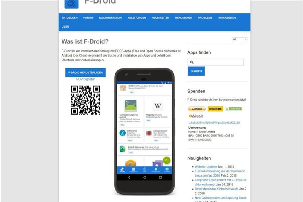 F-Droid ist sichere Play-Store-Alternative
