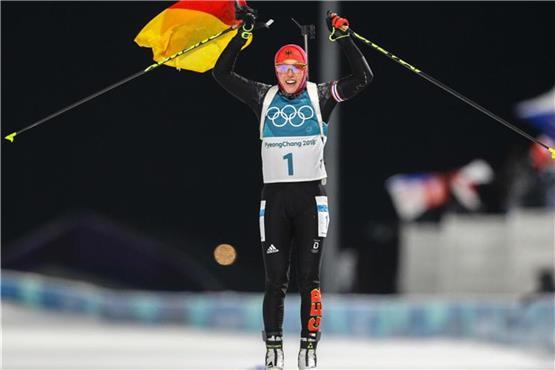 Super Biathlon-Start: Gold für Dahlmeier, Bronze für Doll