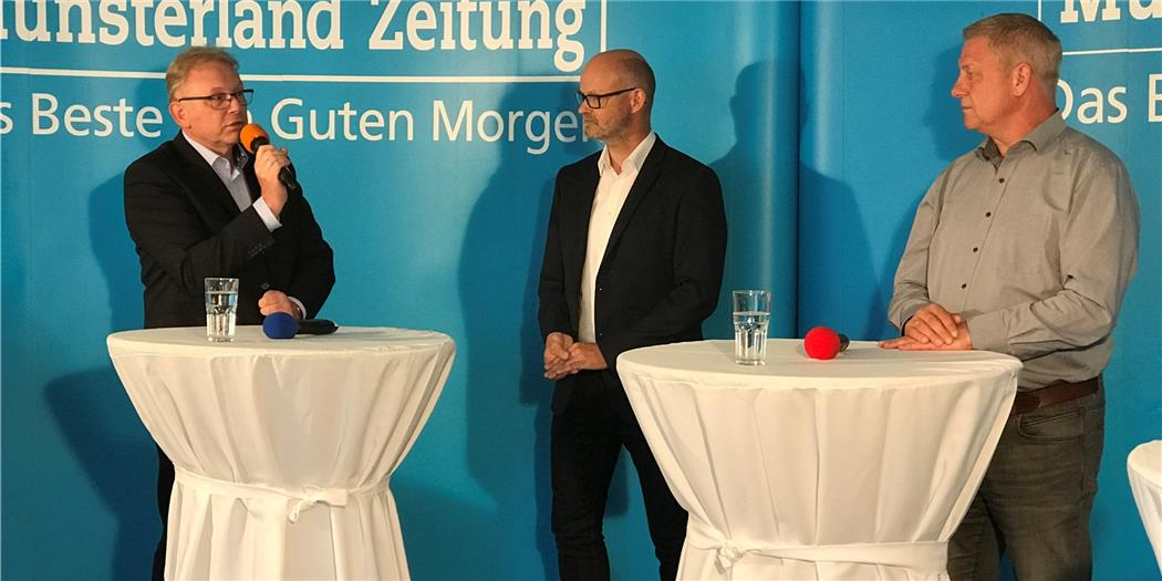 Im Video: Talkrunde mit den Legdener Stichwahlkandidaten