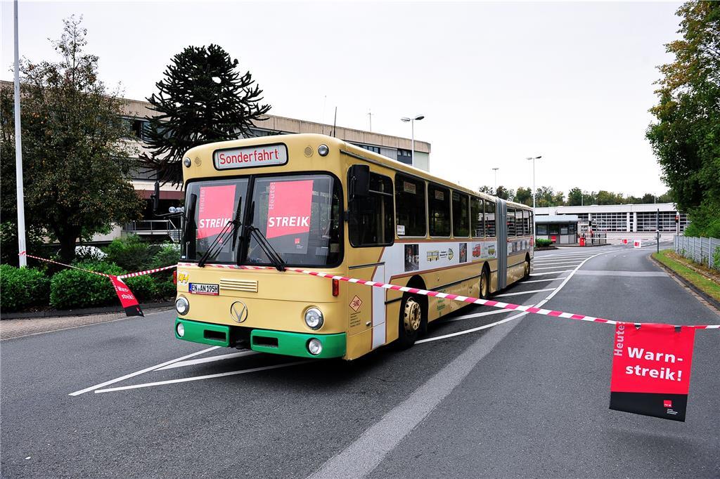 Warnstreik Busse