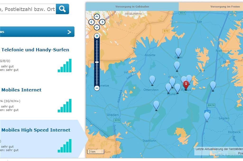 Lte Netzabdeckung Karte.Mobiles Internet Im Test Diese Orte Sind Von Lte Noch Weit