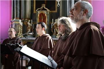 The Gregorian Voices treten in der Olfener Christuskirche auf.